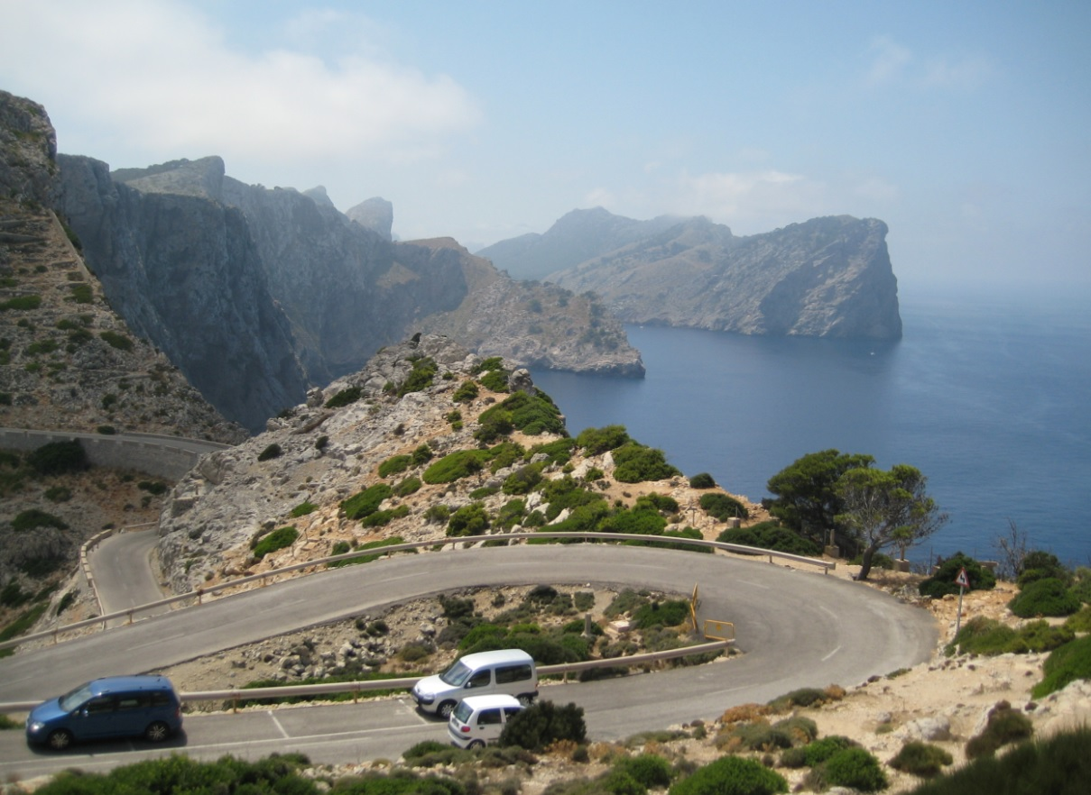 Bergstraßen auf Mallorca
